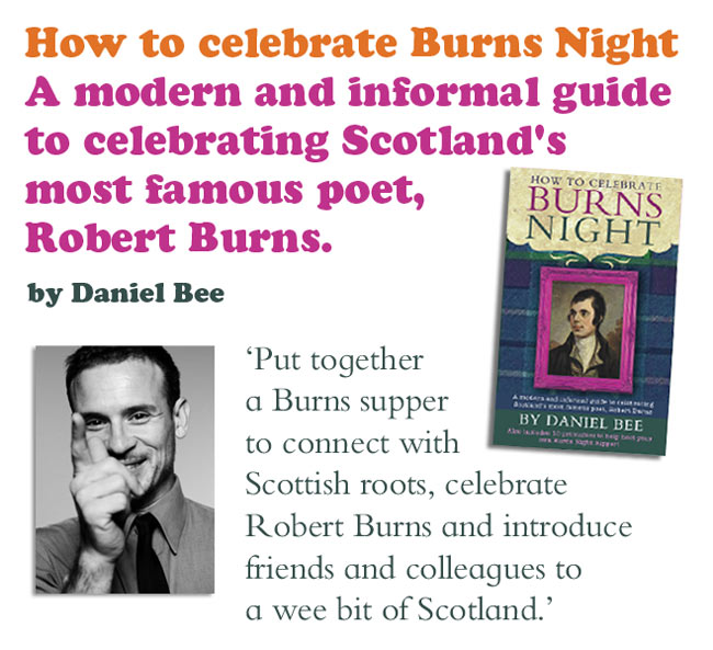 Burns night celebration paperback book on how to host a successful Burns Night